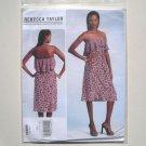Vogue Designer Pattern V1299 Size 4 - 12 Rebecca Taylor Misses Dress and Belt