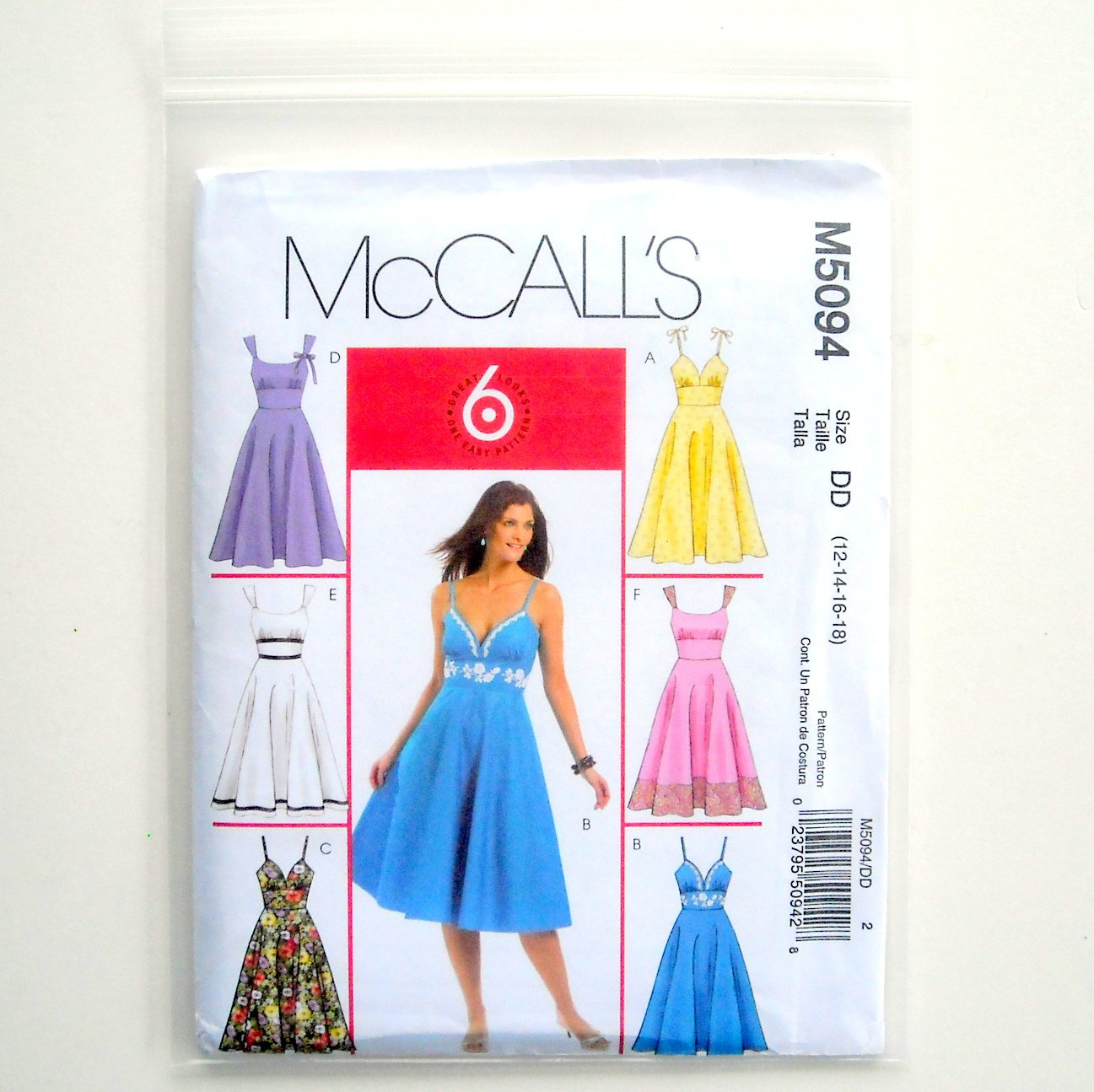 McCall Sewing Pattern M5094 Size 12 - 18 Misses Dresses