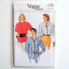 Vogue Pattern 9263 Size 12 14 16 Misses Shirt