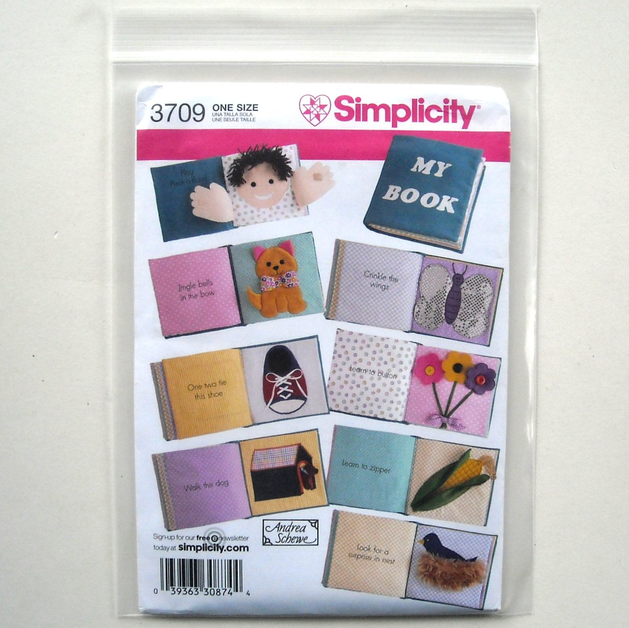 Babys First Soft Book Andrea Schewe Simplicity Sewing