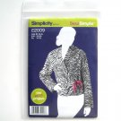 Misses Fleece Jacket Size XS - XL Sew Easy Project Simplicity Sewing Pattern E2009