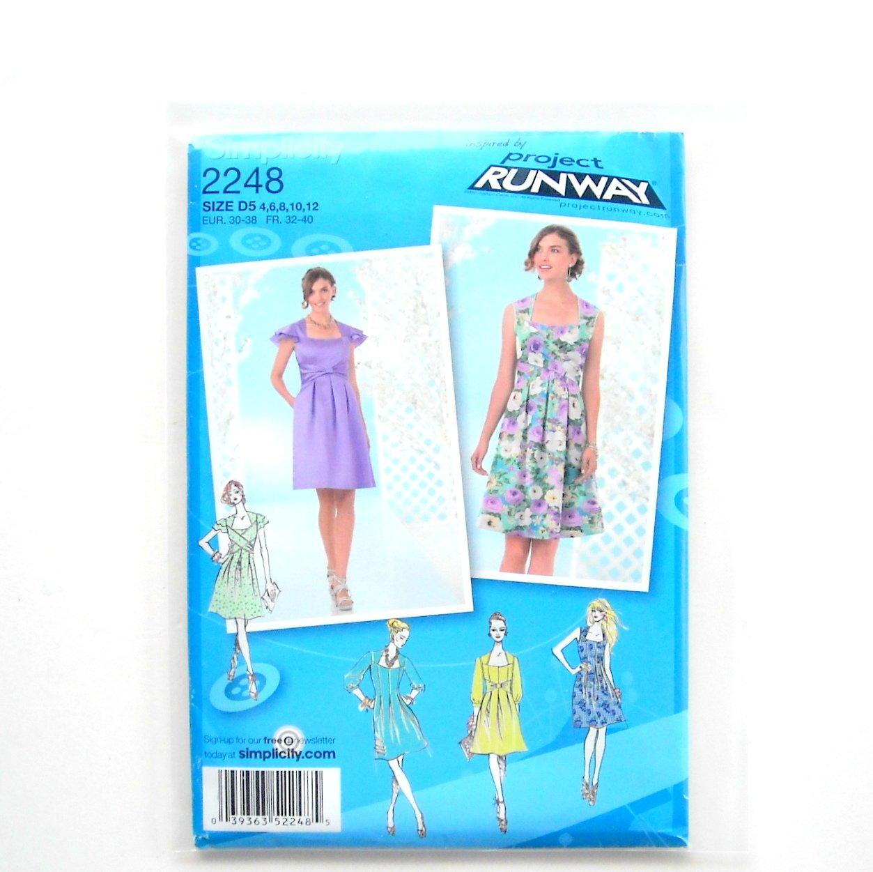 Misses Dresses 4 - 12 Project Runway Simplicity Sewing Pattern 2248