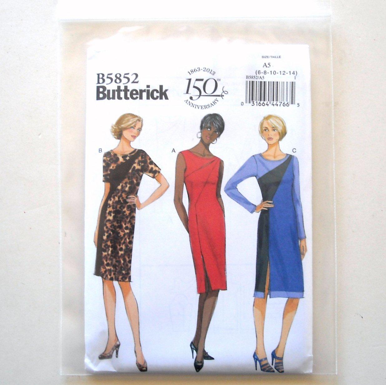 Misses' Misses' Petite Dress Size 6 - 14 Butterick Pattern B5852