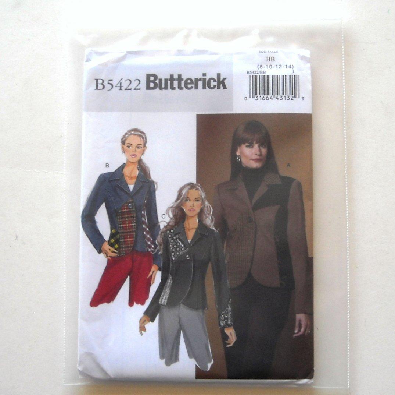 Misses' Jacket Size 8 - 14 Butterick Pattern B5422