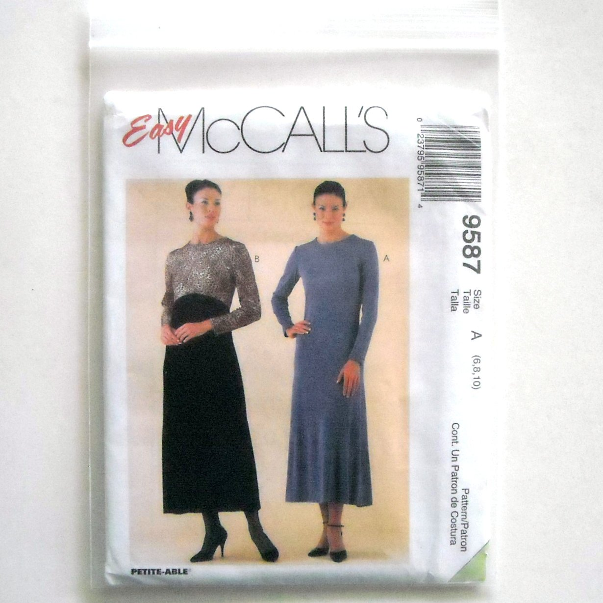 Misses Dress 6 8 10 Out Of Print McCalls Easy Sewing Pattern 9587