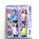 Boys Girls Tops and Appliqués Size 6 - 8 McCall's Easy Sewing Pattern M6691