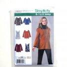 6 Tunics Top Size 16 - 24 Karen Z Simplicity Sewing Pattern 2852