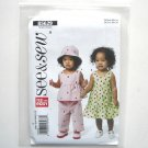 Infants Top Dress Panties Hat See Sew Butterick Pattern B5629