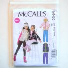 Girls Vest Headband Jackets Leggings Size 3 - 6 McCalls Sewing Pattern M6430