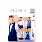 Mens Lined Vests Bow Tie Cummerbund XL - XXL McCalls Sewing Pattern 4321