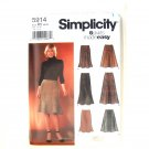 Misses Womens Skirts Simplicity Sewing Pattern 5914