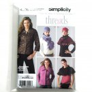 Misses Jacket Capelet Scarf Hat Threads Simplicity Sewing Pattern 4026