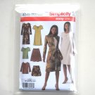 Misses Skirt Dress Jacket Top Simplicity Sewing Pattern 4045