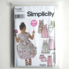 Girls Dress Slip Dress Top Pants Shorts Simplicity Sewing Pattern 5226