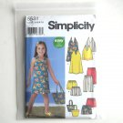 Girls Dress Top Capri Pants Shorts Skort Simplicity Sewing Pattern 5531
