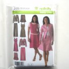 Womens Jumper Pants Skirt Jacket Plus Size Simplicity Sewing Pattern 4505