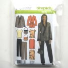 Womens Top Skirt Pants Jacket Plus Size Simplicity Sewing Pattern 4748