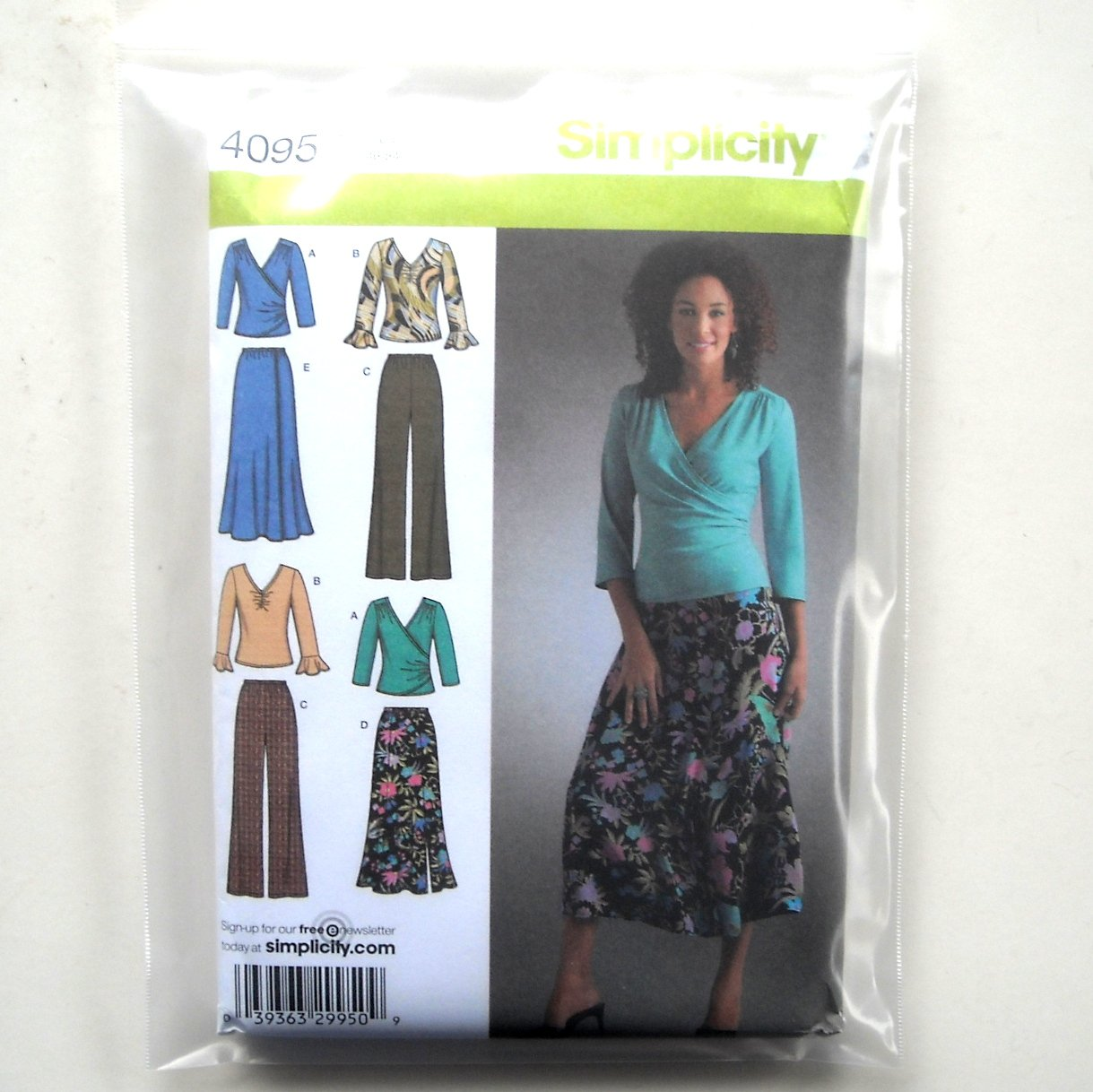 Misses Womens Pants Skirt Knit Top Plus Size Simplicity Sewing Pattern 4095