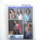 Misses Wrap Top Accessories 14 16 18 20 Simplicity Sewing Pattern 4306