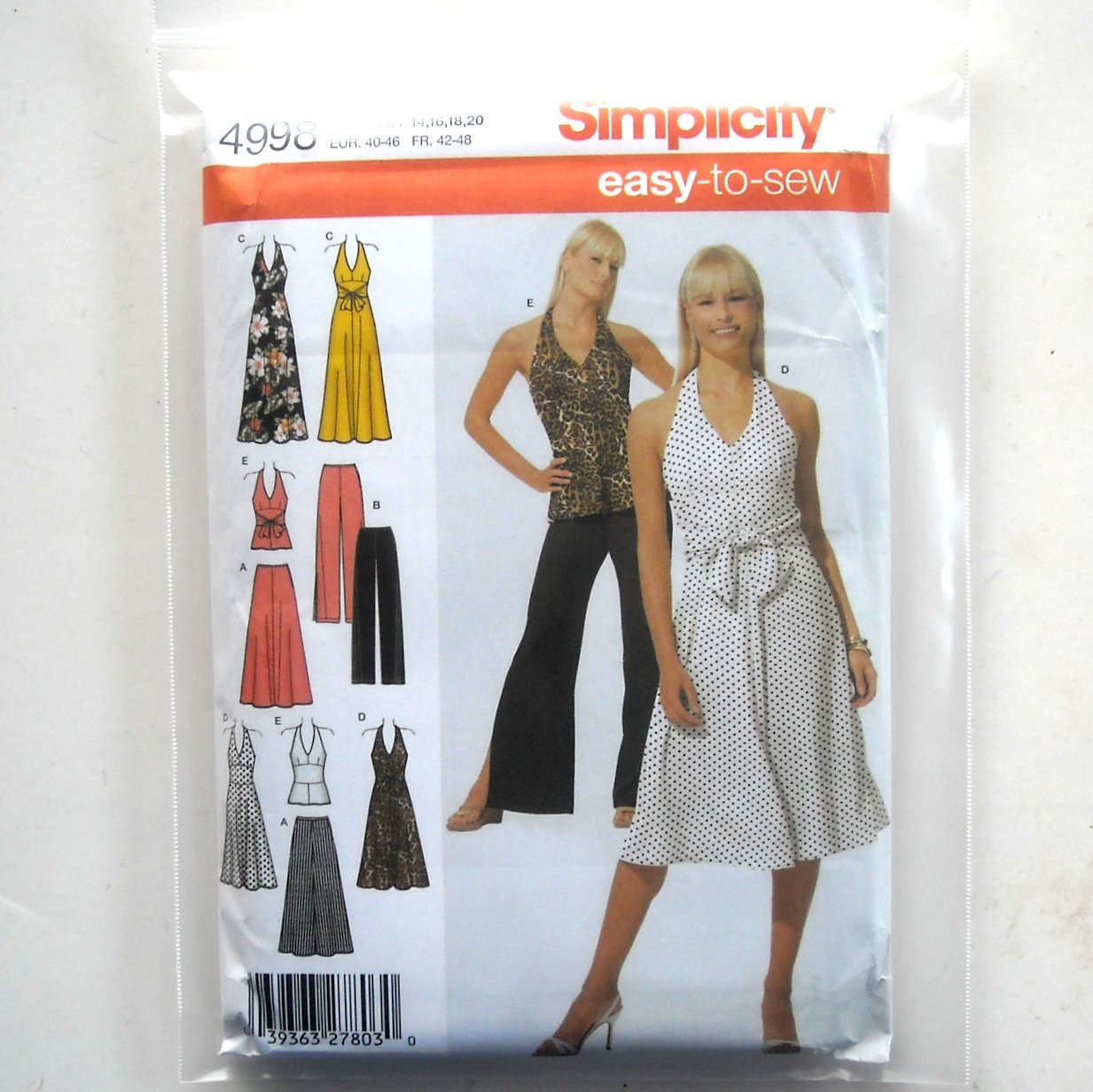Misses Skirts Pants Dress Easy 14 16 18 20 Simplicity Sewing Pattern 4998