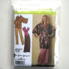Lined Kimono Top Pants Skirt XXS XS S M Simplicity Sewing Pattern 4291