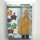 Loose Fitting Pullover Top Poncho Scarf Hat XS S M Simplicity Sewing Pattern 4782