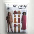 Pants Skirt Tank Top Jacket Simplicity Sewing Pattern 5463