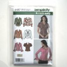 Misses Shirt 8 10 12 14 16 Simplicity Sewing Pattern 4487