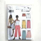 Misses Pants Shorts 14 16 18 20 22 Simplicity Sewing Pattern 5062