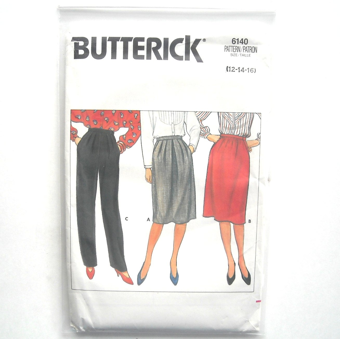 Misses Skirt Pants 12 14 16 Vintage Butterick Sewing Pattern 6140