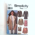 Misses Coat Jackets Vest L XL Simplicity Sewing Pattern 5306