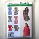Misses Tunic 2 Lengths 16 18 20 22 24 Simplicity Sewing Pattern 2365