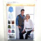 Men Misses Shirt Vest Boxer Shorts Size M L XL Easy Simplicity Sewing Pattern 2741