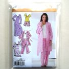 Pants Robe Nightgown Misses Size M L XL Simplicity Sewing Pattern 3696