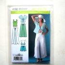 Misses Summer Wrap Pants Shorts Kimono Bra Top Simplicity Sewing Pattern 4192