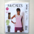 Misses Easy Tops Tunics XS S M Out Of Print McCalls Sewing Pattern M6705