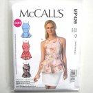 Misses Peplum Tops 14 16 18 20 22 McCalls Sewing Pattern MP426