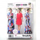 Womens Shirt Dress 20W - 28W Simplicity Sewing Pattern S0882