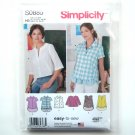 Misses Shirt Pullover Top 6 8 10 12 14 Simplicity Sewing Pattern S0885