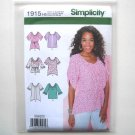 Misses Tunic Top 6 8 10 12 14 Simplicity Sewing Pattern 1915
