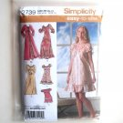 Misses Womens Pajamas Nightgown Robe 14 16 18 20 22 24 Out Of Print Simplicity Sewing Pattern 2739