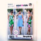 Misses Womens Dress 20W 22W 24W 26W 28W Simplicity Sewing Pattern S0911