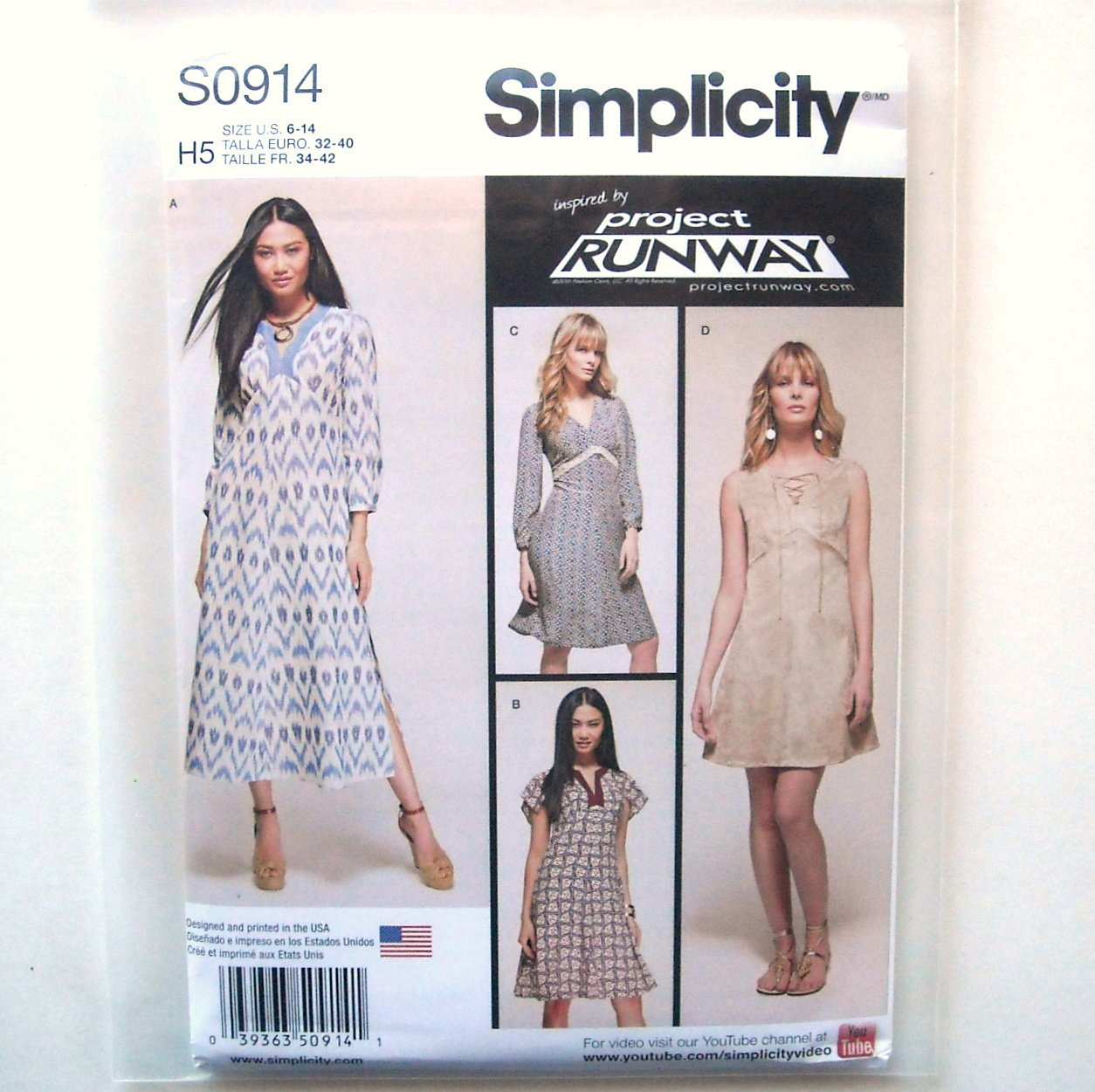 Misses Dresses 6 8 10 12 14 Simplicity Sewing Pattern S0914