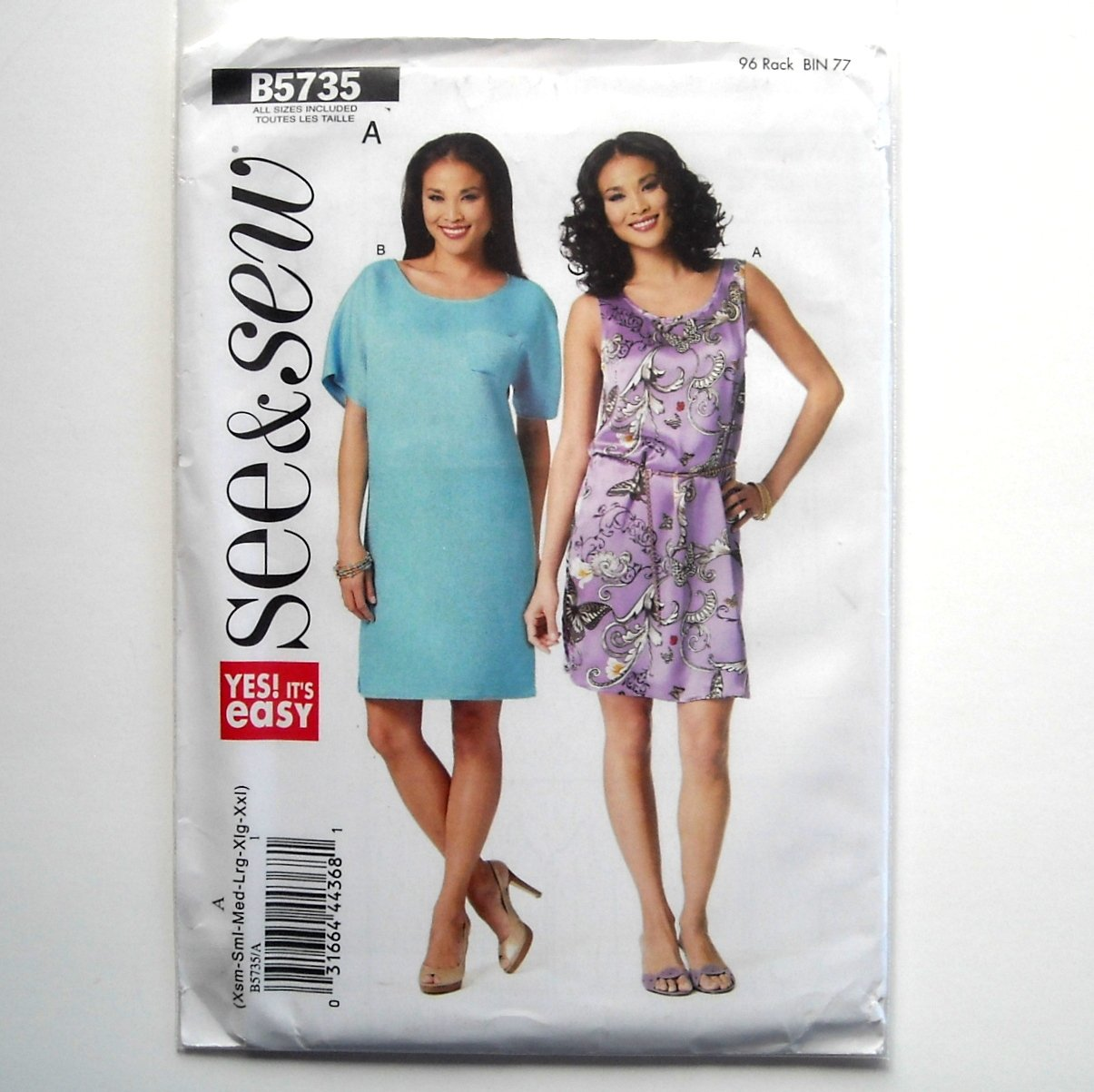 Misses Very Easy Dress All Sizes See & Sew Butterick Pattern B5735