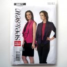 Womens Vest Jacket All Sizes Very Easy See & Sew Butterick Pattern B6077