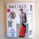 Misses Pleated Tops Tunic L XL XXL McCalls Sewing Pattern M6899