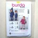 Hoodie Jackets Pants Burda Kids Sewing Pattern 9450