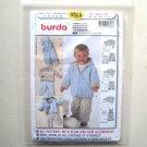 Overalls Hoodie Jacket Burda Kids Sewing Pattern 9828