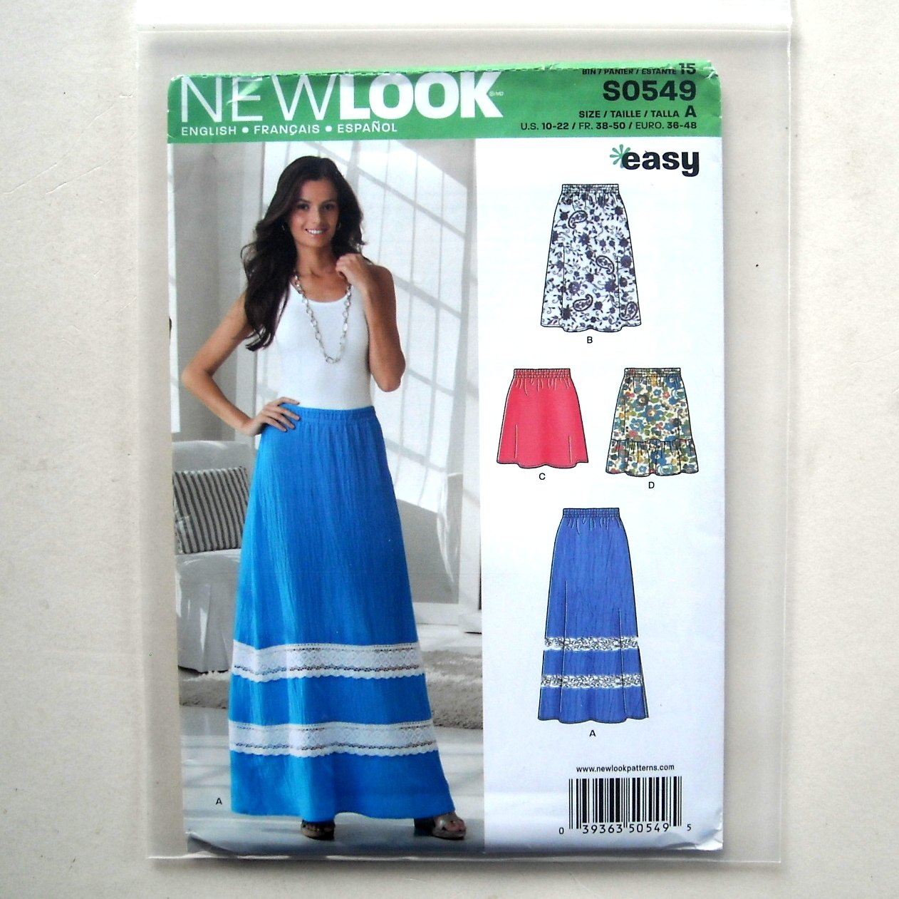 Misses Pull on Skirt Simplicity New Look Sewing Pattern S0549