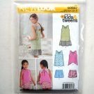 Girls Shorts Dress Top Simplicity New Look Kids Sewing Pattern S0557